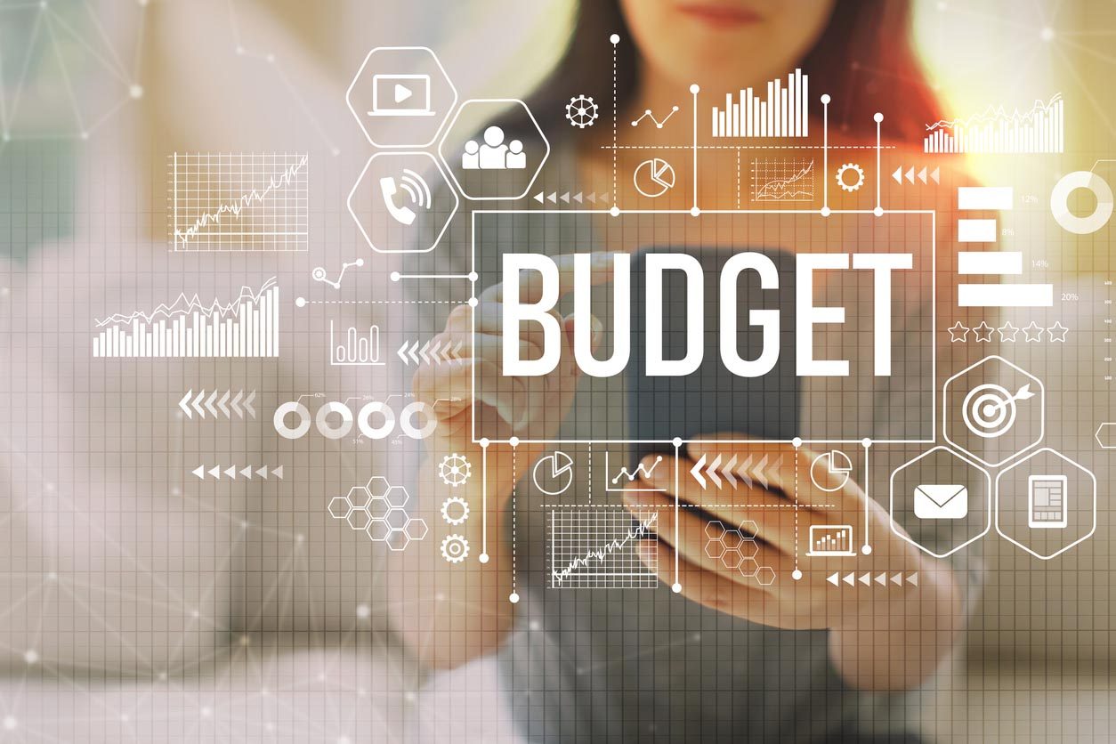 Budget With Woman Using A Smartphone