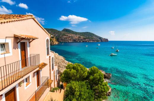 maison secondaire avec sur la mer idyllique sur la côte sur l'île de Majorque