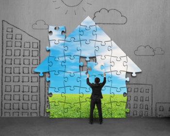 illustration sci Assembler maison puzzles